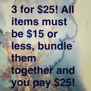 3 for $25! Items Marked With 💰